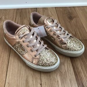 Guess Loven gold rose sequins sneakers